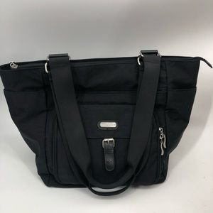 Baggallini black tote multi pockets bag handbag